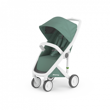 Greentom Classic white sage sustainable stroller kinderwagen