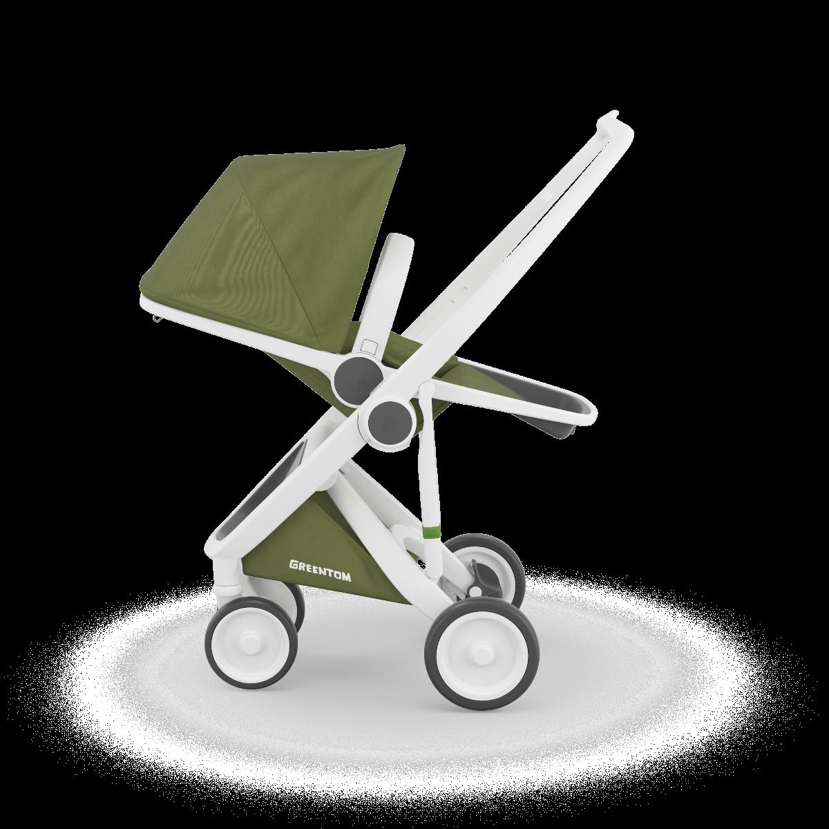 Greentom Reversible Baby Kids Stroller White Olive